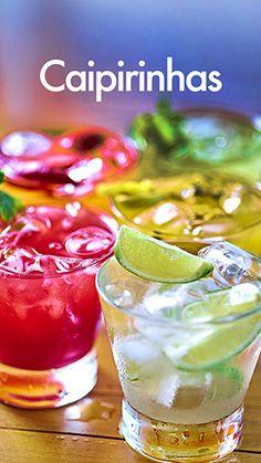 caipirinhas Caipirinha Cocktail, Cocktail Drinks, Drinks Alcohol Recipes, Alcoholic Drinks, Beverages, Brazilian Drink, Flat Belly Drinks, Hard Drinks, Drink Specials