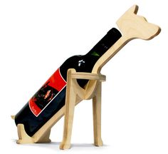 dog wine bottle holder