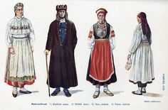 Estonian national costumes.