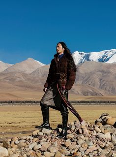 a mix of old and new, Tibetan style  via ellemenfashion