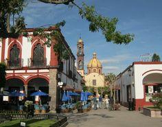 """Jiquilpan en Michoacán de Ocampo Declarado Pueblo Mágico en 2012. Jiquilpan tiene su origen en la lengua náhuatl, que significa """"lugar del añil"""", lo cual hace referencia al tono azul-violeta de sus jardines, por lo que también se le llama como """"la ciudad de las jacarandas""""."""