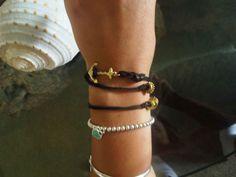Leather Anchor DYI Bracelet