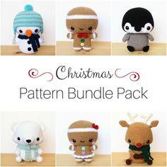 6 PATTERN Cuddle-Sized Christmas Amigurumi Bundle Pack – Storyland Amis