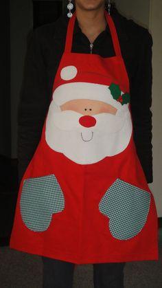 Costura Navideña: Paso a Paso como hacer delantales navideños muy fáciles y lindos Christmas Aprons, Christmas Sewing, Christmas Projects, Holiday Crafts, Christmas Crafts, Christmas Decorations, Sewing Crafts, Sewing Projects, Cute Aprons