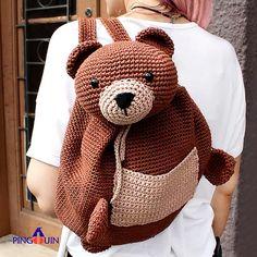 Mochila de Crochê Urso - Linha Bella Arte - Blog do Bazar Horizonte - Maior Armarinho Virtual do Brasil