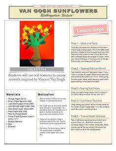 kindergarten-texture-Van Gogh Lesson