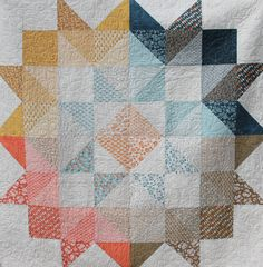 Moda Love Layer Cake or Charm Square quilt Pattern for Basic Grey's Persimmon fabric