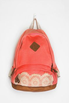 Kimchi Blue Lace & Jersey Backpack