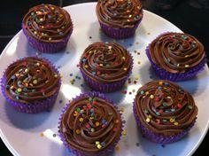 Bringebær og sjokolade cupcakes !