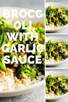 Broccoli With Garlic Sauce, Broccoli Stems, Broccoli Bake, Fresh Broccoli, Broccoli Casserole, Broccoli Recipes, Chicken Broccoli, Garlic Recipes, Chicken Recipes