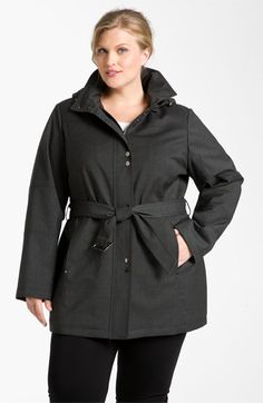 Fantastically chic for fall. Kristen Blake Belted Coat (Plus) (Online Exclusive) | Nordstrom #plussizefashion