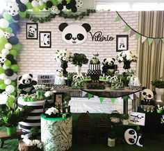 Image may contain: plant and indoor Panda Themed Party, Panda Party, Panda Birthday Cake, Baby Boy 1st Birthday, Baby Shower Diapers, Baby Boy Shower, Monsters Inc Baby Shower, Panda Decorations, Panda Baby Showers