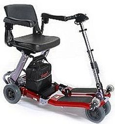 Free Rider USA  Luggie Standard  Compact Lightweight Foldable Scooter  4Wheel  Red <3 Click the VISIT button to view the details