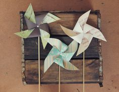 How to make a pinwheel......great fun for  party decor....or to do for/with the little ones!
