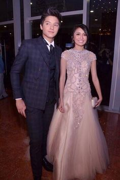 Over 300 local celebrities are set to walk down the red carpet in this year's Star Magic Ball, which will be held at the Makati Shangri-La hotel on Saturday (September Star Magic Ball, Queen Of Hearts, Blue Hearts, Daniel Padilla, Prom Night, Prom Dresses, Formal Dresses, S Star, Mom And Dad
