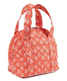 Peach Coral Orchard Lunch Tote #zulily #zulilyfinds