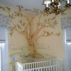 wall murals   ... the Perfect Nursery Simple Nursery Tree Wall Mural – Wallpaper Mural