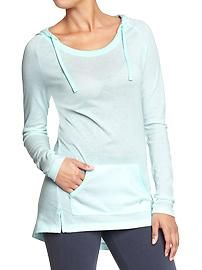 Women's Old Navy Active Burnout Hooded Tunics