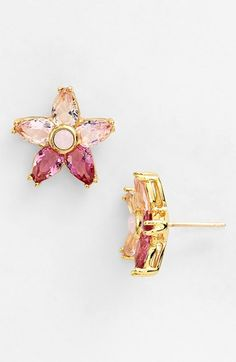 kate spade new york 'ombré bouquet' crystal stud earrings available at #Nordstrom
