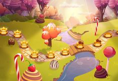 Meet Pastry Mania 2! Puzzle game for mobile where we designed 2d graphics and…