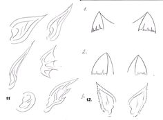 Как рисовать аниме: рисуем уши