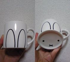 Every sip is a SQUEE with this easy bunny mug. | The 42 Definitively Cutest DIY Projects Of All Time