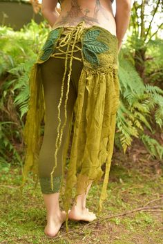 Nuno Felted Pixie Fairy Nymph Silk Pointed Belt With by frixiegirl