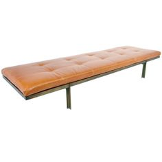 Unique Bronze and Leather Daybed by Architect Ira Grayboff   From a unique collection of antique and modern day beds at http://www.1stdibs.com/furniture/seating/day-beds/
