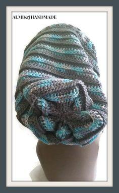 Granny Square Hat Slouchy Crochet Hat Unisex by ALMBandJHANDMADE
