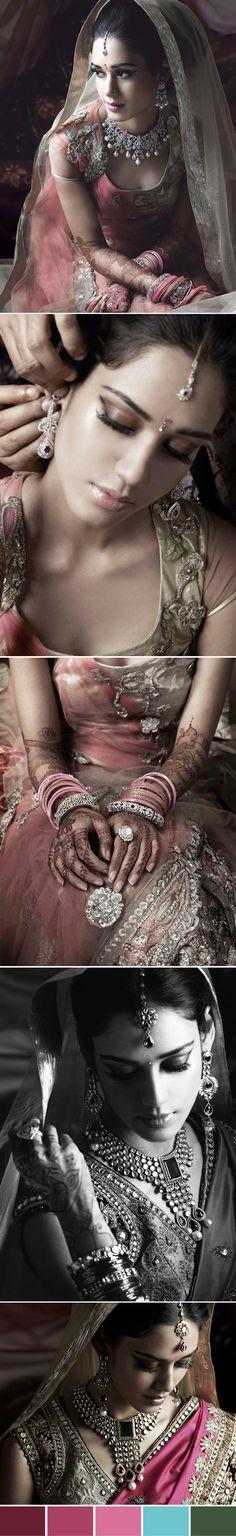 I think i like it cuz the photos look vintage-y Big Fat Indian Wedding, Indian Bridal, Indian Weddings, Indian Dresses, Indian Outfits, Moda Indiana, Desi Wedding, Wedding Blog, Asian Bride