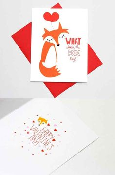 What Does The Fox Say Valentine's Day Card | 17 Must-Have Funny Valentine's Day Cards