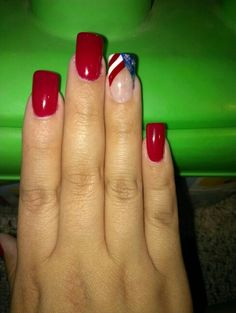 4th of july nails 2013