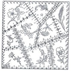 Victorian hand Embroidery Designs | The Victorians assumed you knew how to piece and embroider a block ...