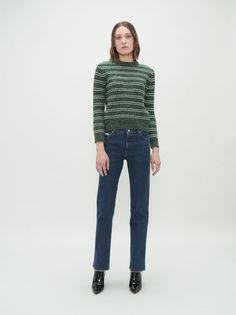 Dark Wash Triple Stitch Jeans - ALEXACHUNG