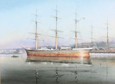 "Lot 410, J Francis Dowden, watercolour, ""The Europa at Frederikshald"" signed 9 1/2"" x 13"", Est £100-200"