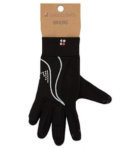 Lightweight, sweat-wicking running gloves from Sweaty Betty with handy key pocket and reflective pattern, to help with visibility during nighttime runs. Gripper dots and touch-screen technology enable use with phones or music players. Available online for £22.
