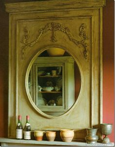 great Trumeau mirror...seriously beautiful. Need to figure out how to do one myself for our bedroom