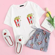 Cute Lazy Outfits, Teenage Outfits, Kids Outfits Girls, Trendy Outfits, Cool Outfits, Cute Pajama Sets, Cute Pjs, Cute Pajamas, Girls Pajamas