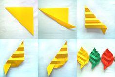Znalezione obrazy dla zapytania liście origami