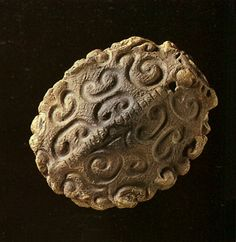 Clay product of the tortoise form. Jomon-era. BC.1,200 - BC.800. Iwate Japan.