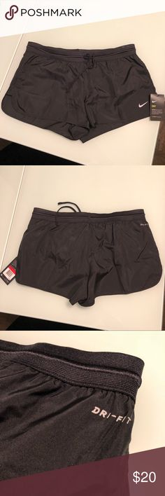 """FINAL PRICE‼️ Nike Dri-FIT Running Shorts NWT Brand New with Tags! *PRICE IS FIRM :)  Size LARGE (Women's) - Lightweight Dri-FIT wicking technology that helps evaporate and allow for quick drying  - Mid-rise with loose fit through hips and thighs - Pull-on style with drawstring - Lined internally - Small internal pocket Approximate Measurements: 2"""" inseam Nike Shorts"""