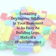 DryBarrier Subfloor installation is as easy as joining Lego Bricks. Lego Brick, Bricks, Basement, Diy Home Decor, Flooring, Easy, How To Make, Pictures, Photos