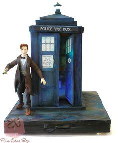 'Doctor Who' 50th Anniversary TARDIS Cake by Pink Cake Box