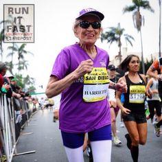 Harriett Thompson Oldest Runner to Run a Marathon - Run It Fast