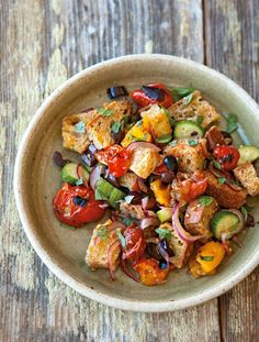 Bread Salad with Charred Tomatoes, Cucumber and Olives | Williams Sonoma's Favorite Summer Recipes