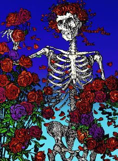 Skull with Roses Stanley Mouse