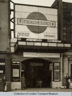 Highgate, now Archway, Underground station London Underground Tube, London Underground Stations, Vintage London, Old London, North London, Tube Stations London, London History, Local History, British History