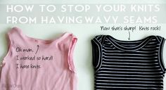 Comment éviter les coutures etirées et gondolées sur du jersey « Blog de Petit Citron