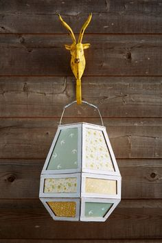 DIY Papier Patch lantern