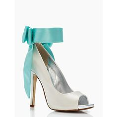 Grande Bow Heels by Kate Spade.  $598.00. Would be perfect for a wedding or event that uses a Tiffany Blue color theme.